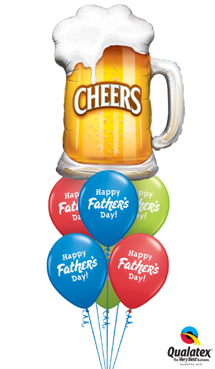 Fathers Day Cheers  Double Layer Bouquet